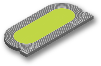 800m Cinder Running Track Onsite